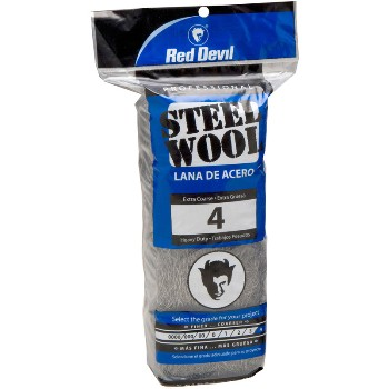 Steel Wool Pads,  #4 Extra Coarse ~ 16 Pads/Pack
