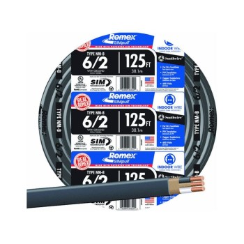 Non-Metallic 6/2 Sheathed Cable w/Ground ~ 125 Ft