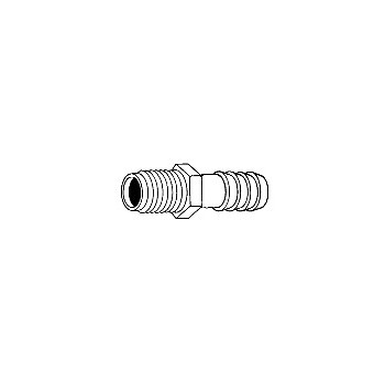 Danco 52666b Barb Adapter, 1/8 x 1/4 inch