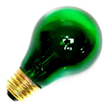Party Light Bulb, 25w ~ Green