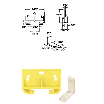 "Drawer Track Guide Kit, 1-5/16"", Plastic"