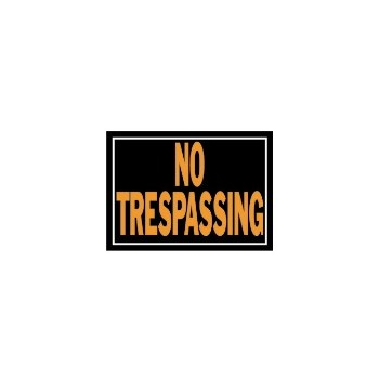 No Trespassing Sign, Aluminum 10 x 14 inch