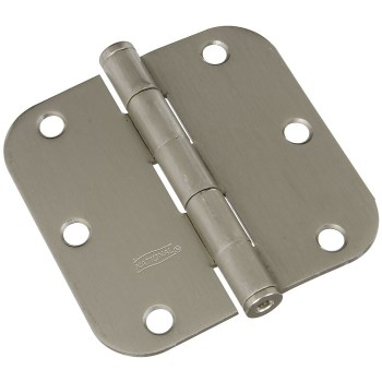 "Radius Door Hinge, Satin Nickel ~ 3.5"" 5/8"" Radius"