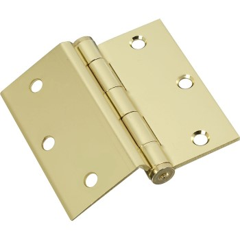 Brass Half Surface Hinge - 3- 1/2inches