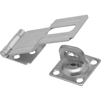 Swivel Staple Safety Hasp, Zinc Finish ~ 4-1/2""