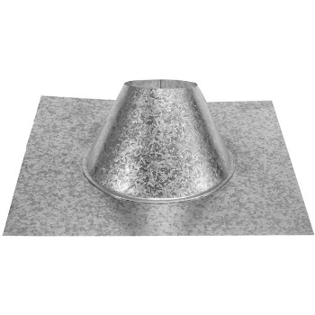 Pellet Vent Adjustable Roof Flashing - 4 inch