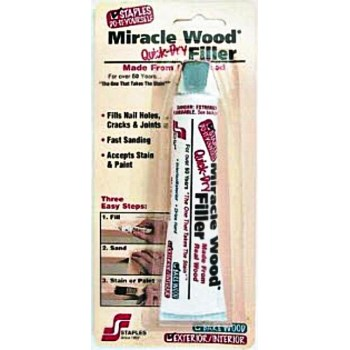 HF Staples  942-72 Miracle Wood Quick-Dry Filler ~ 1.75 Ounce Tube