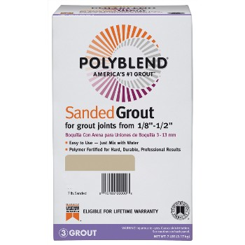 PolyBlend Sanded Tile Grout, Snow White ~ 7 lb