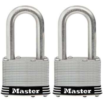 MasterLock 1SSTLFHC 1-3/4in. 2pk Ss Padlock