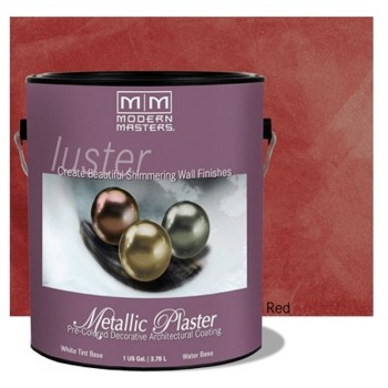 Luster Series Metallic Plaster,  Red ~ Gallon
