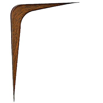"Shelf Bracket, Strong Arm - 4 x 6"" - Fruitwood"