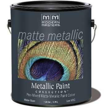 Matte Metallic Paint ~ Platinum, 1 Gallon