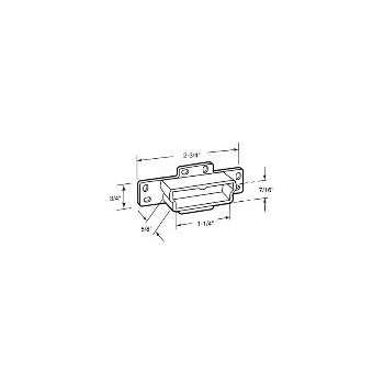 PrimeLine/SlideCo R7133 Drawer Track Backplate