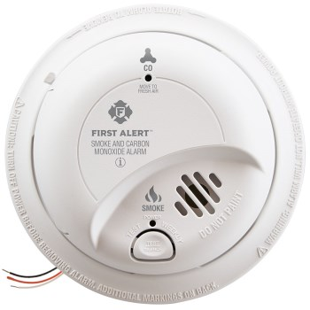 First Alert/Brk SC9120B First Alert Smoke & Carbon Monoxide Alarm, Wired w/Battery Back Up