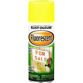 Rust-Oleum 1942830 Spray Paint, Fluorescent Yellow