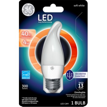 LED CAM Chandelier Bulb - 4 watt/40 watt ~ Frosted