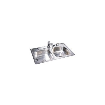 Franke  DG804NB Sink, Double Bowl Stainless Steel 33 x 22 x 8