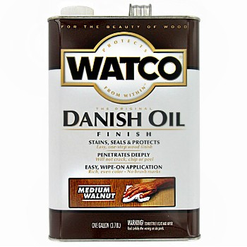 Watco 65931 Danish Oil,  Medium Walnut ~ Gallon