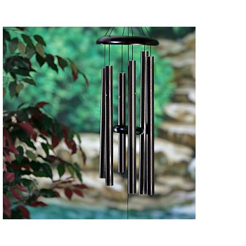 "Windchimes, 29""Corinthian Bells Series ~ Black"