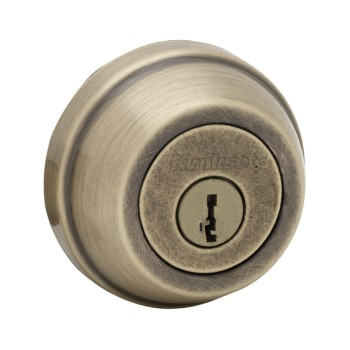 Double Cylinder Deadbolt - SmartKey ~ Antique Brass