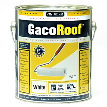 GacoRoof Protective Silicone Coating, White ~ Gallon