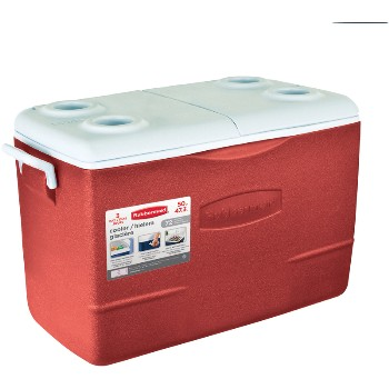 Rubbermaid 1929015 Non-Wheeled Cooler, Red ~ 50 quart 1929015