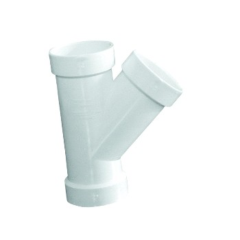 PVC Wye Pipe Fitting, 3""