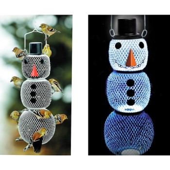 Woodstream  Solar Hat Snowman Wild Bird Feeder