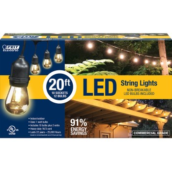 Feit Electric  72026 Decorator Indoor/Outdoor LED String Lights ~ 20 FT