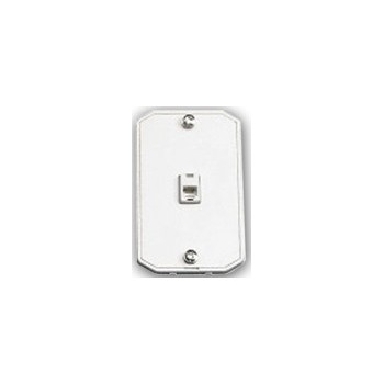 Wall Phone Jack ~ White