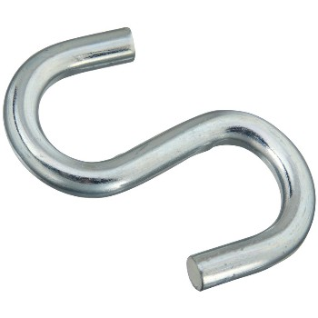 S Hook - Open/Heavy, Zinc ~ 4""