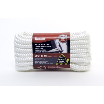 3/8in. X15ft. Wh Dock Line