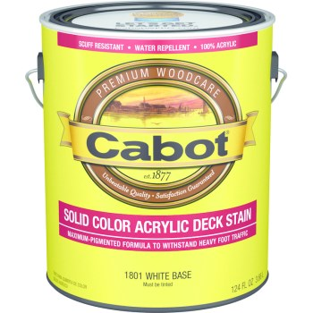 Solid Color Acrylic Deck Stain,  White Base ~ Gallon