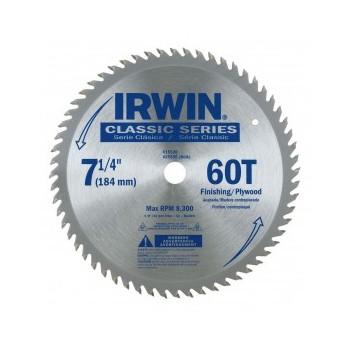 "Irwin 15530ZR Circular Saw Blade ~ 7-1/4"" 60T"
