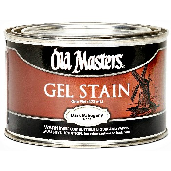 Buy the old masters 81108 gel stain oil based dark mahogany pint hardware world Oil based exterior paint brands