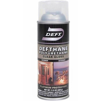 Deft 02013 Defthane Polyurethane Interior/Exterior Spray Finish,  Clear Gloss  ~ 11.5 oz Cans