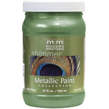 Modern Masters ME434-32 Metallic Paint, Mystical Green 32 Ounce