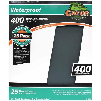 Ali Industries 4239 Sandpaper, Waterproof ~ 400 Fine Grit