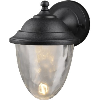 Porch and post light fixtures exterior light fixtures hardware world outdoor led lantern 1 light textured black aloadofball Choice Image