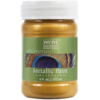 Metallic Paint, Iridescent Gold 6 Ounce