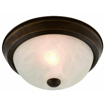 Ceiling Light, Oil Rubbed Bronze-Two Pack  ~ 13.75""