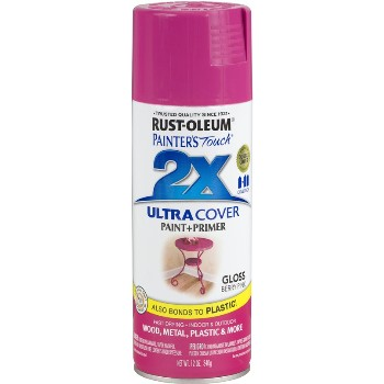 Rust-Oleum 249123 Painters Touch 2X Ultra, Berry Pink Gloss ~ 12 oz