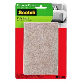 "3M SP840 Scotch   Rectangle Felt Pads, Beige ~ 4"" x 6"""