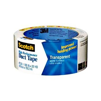 "3M 051131980112 Duct Tape, High Performance Transparent ~ 1.88"" x 20 yd"