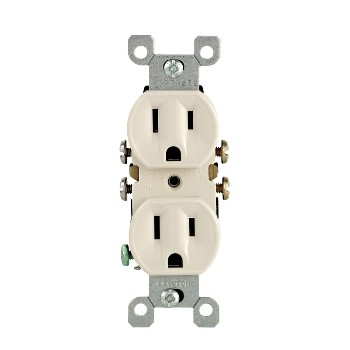 Grounded Duplex Receptacle ~ Light Almond