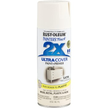 Rust-Oleum 249076 Ultra Cover 2X Spray ~ Heirloom White Satin