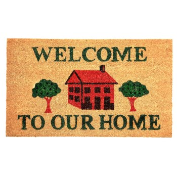 "Entrance Mat, Welcome To Our Home ~ 18"" x 30"""