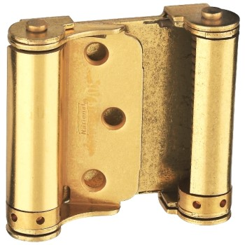 National 115303  Double Action Spring Hinge, Brass Finish ~ 3""