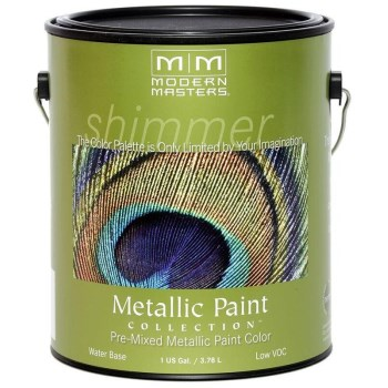 Modern Masters ME194-GAL Metallic Paint, Iridescent Gold/Satin ~ Gallon