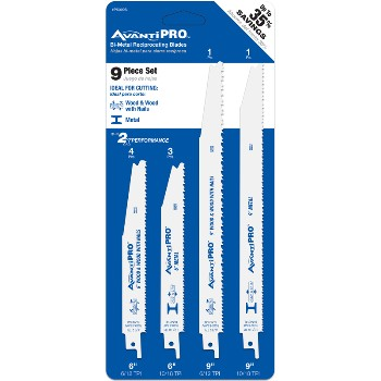 Reciprocating Blade Kit, 9 Piece